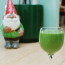 california pixie green smoothie and garden gnome