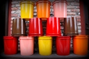 spray painted 5 gallon buckets krylon rustoleum