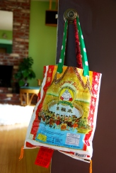make your own shopping bag rice sack