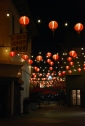red lanterns lantern lights in chinatown Fongs