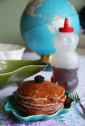 vintage globe boysenberry pancake recipe DIY