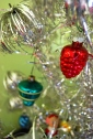 vintage red acorn mercury glass ornament retro christmas decor