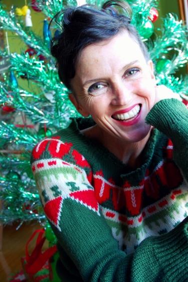 kimi encarnacion christmas california pixie vintage italian ski sweater
