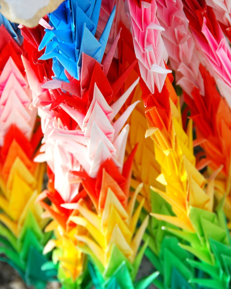 thousand 1000 cranes at manzanar california memorial