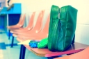 vintage green travel bag laundromat pictures pink chairs