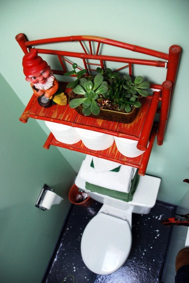 gnome succulents bathroom decor style blog  - Copy