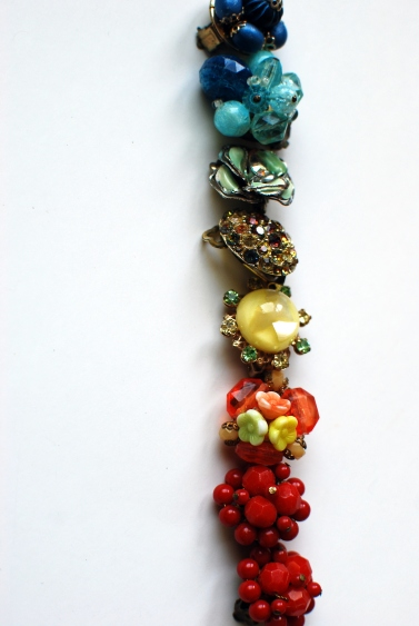 rainbow costume jewelry vintage 50s 60s style blog