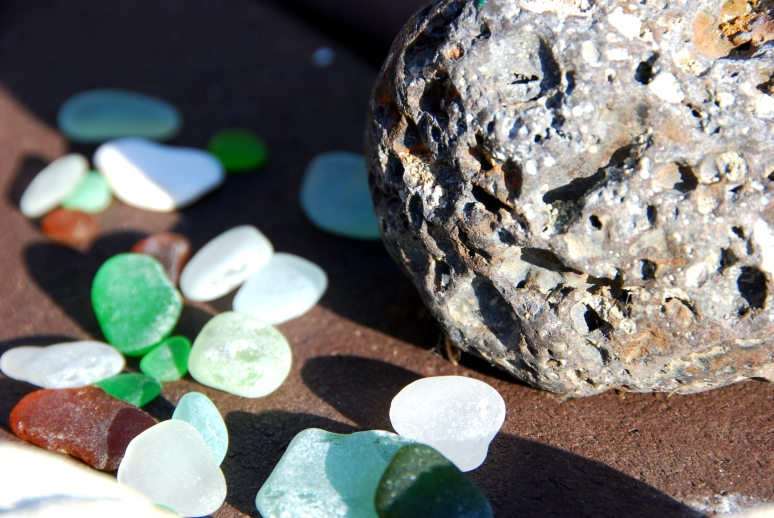 green white aqua beach sea glass
