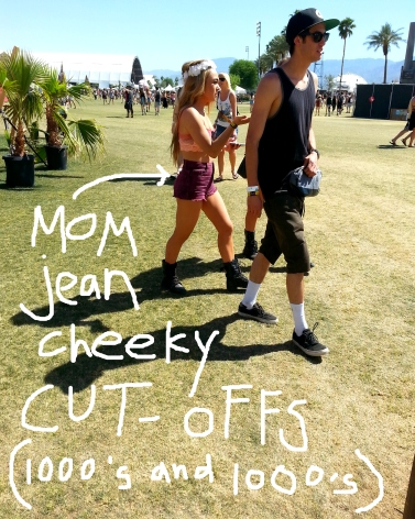 festival fashion coachella mom jean cheeky cutoffs high waisted shorts butt showing
