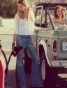 free people patched super flare jean ford bronco