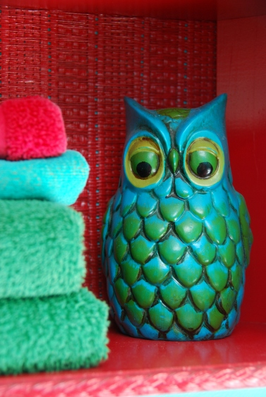 vintage owl figurine 60s 70s decor