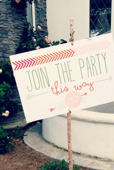 Join the party wedding signs DIY picmonkey