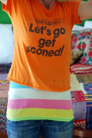 sconecutter let's go get sconed tshirt vintage flip