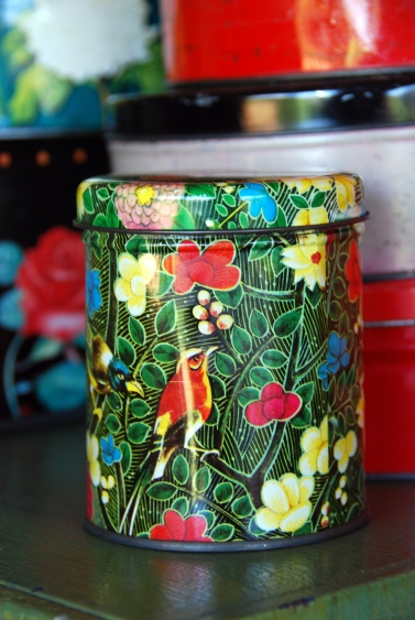 california pixie vintage tin cannisters birds floral flowers decor blog - Copy