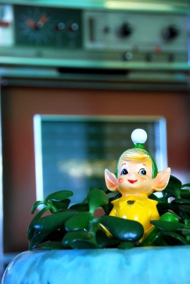 california pixie vintage decor pixie figurine waste king oven