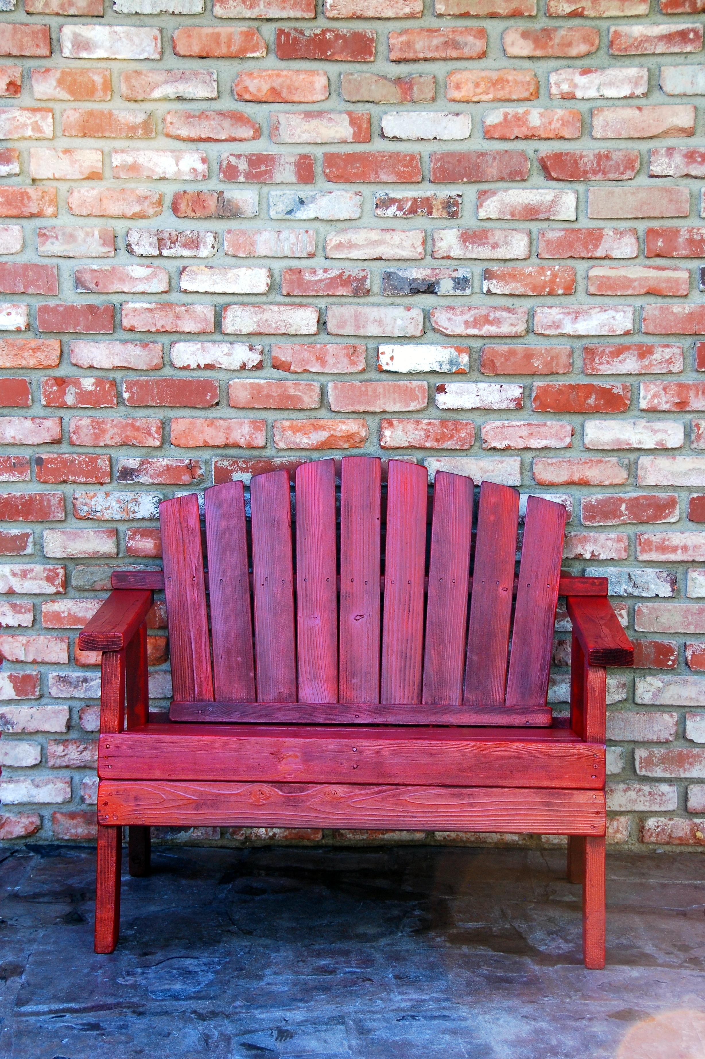 redwood garden bench plans