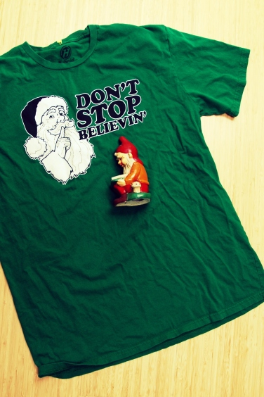 california pixie sewing tshirt makeover re do how to restlyle a tshirt DIY gnome santa