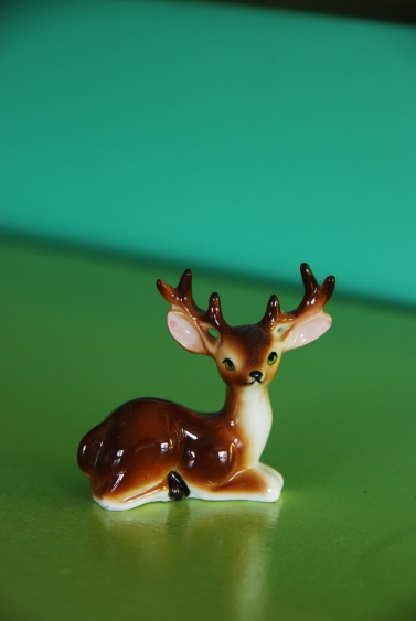 deer figurine vintage california pixie