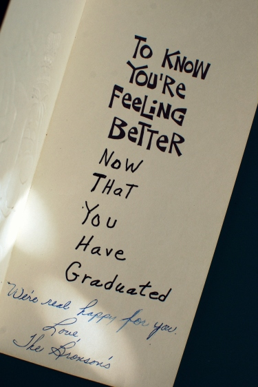 old vintage greeting card graduation