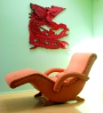 contour lounge chair vintage chinese phoenix wall sculpture-001