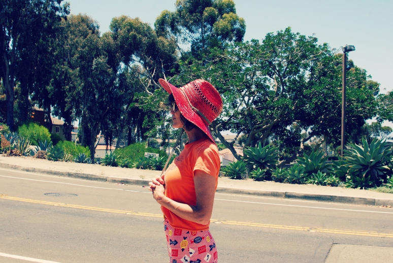 red beach hat kimi encarnacion california pixie blog vintage style fashion .jpg