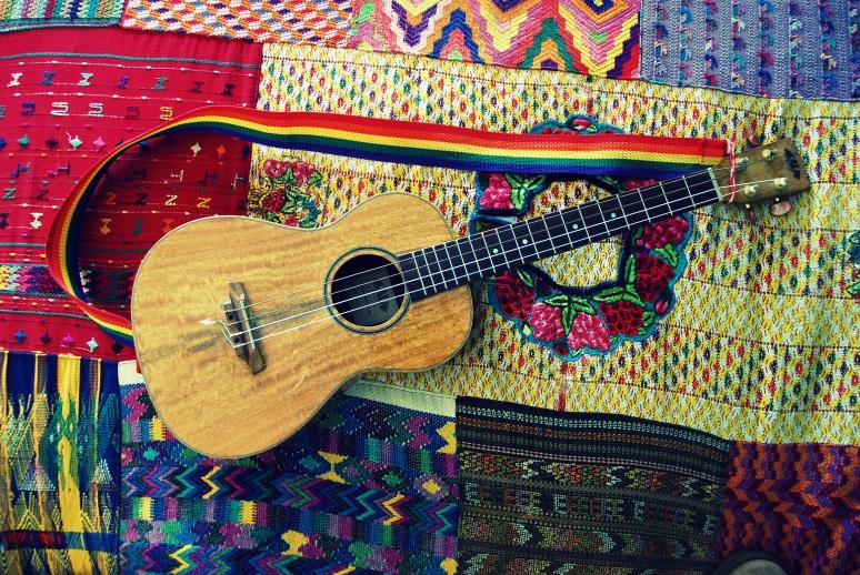 baritone ukulele rainbow guitar strap vintage california pixie lifestyle blog
